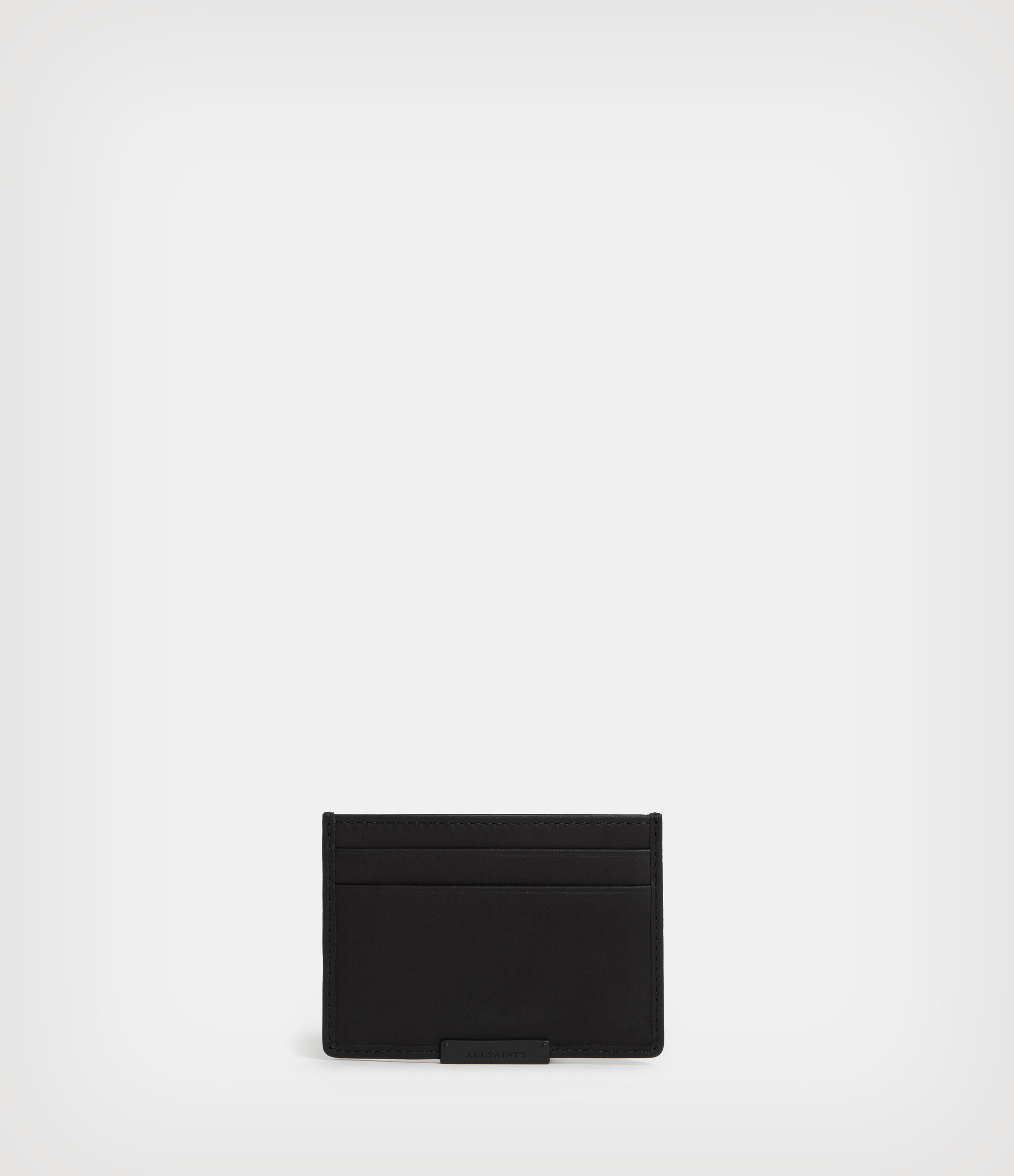 AllSaints Men's Leather Dove Cardholder, Black
