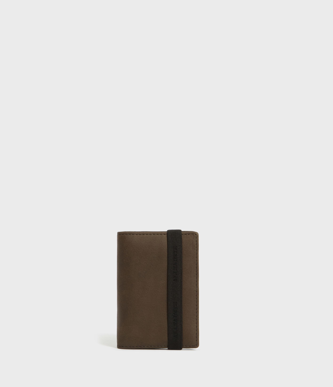 AllSaints Raven Leather Cardholder