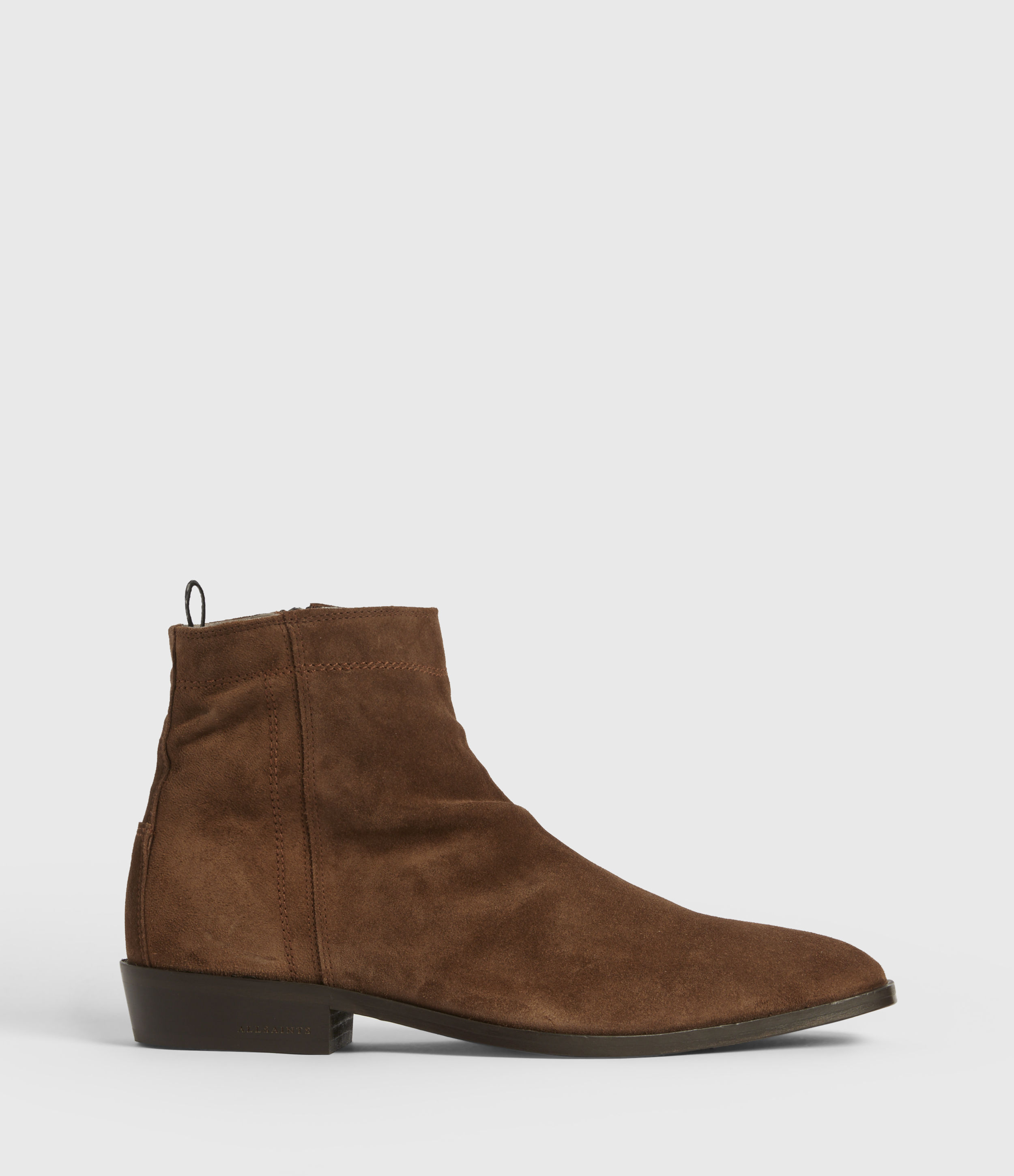 AllSaints Mens Harris Suede Boots, Tobacco Brown, Size: UK 9/US 10/EU 43