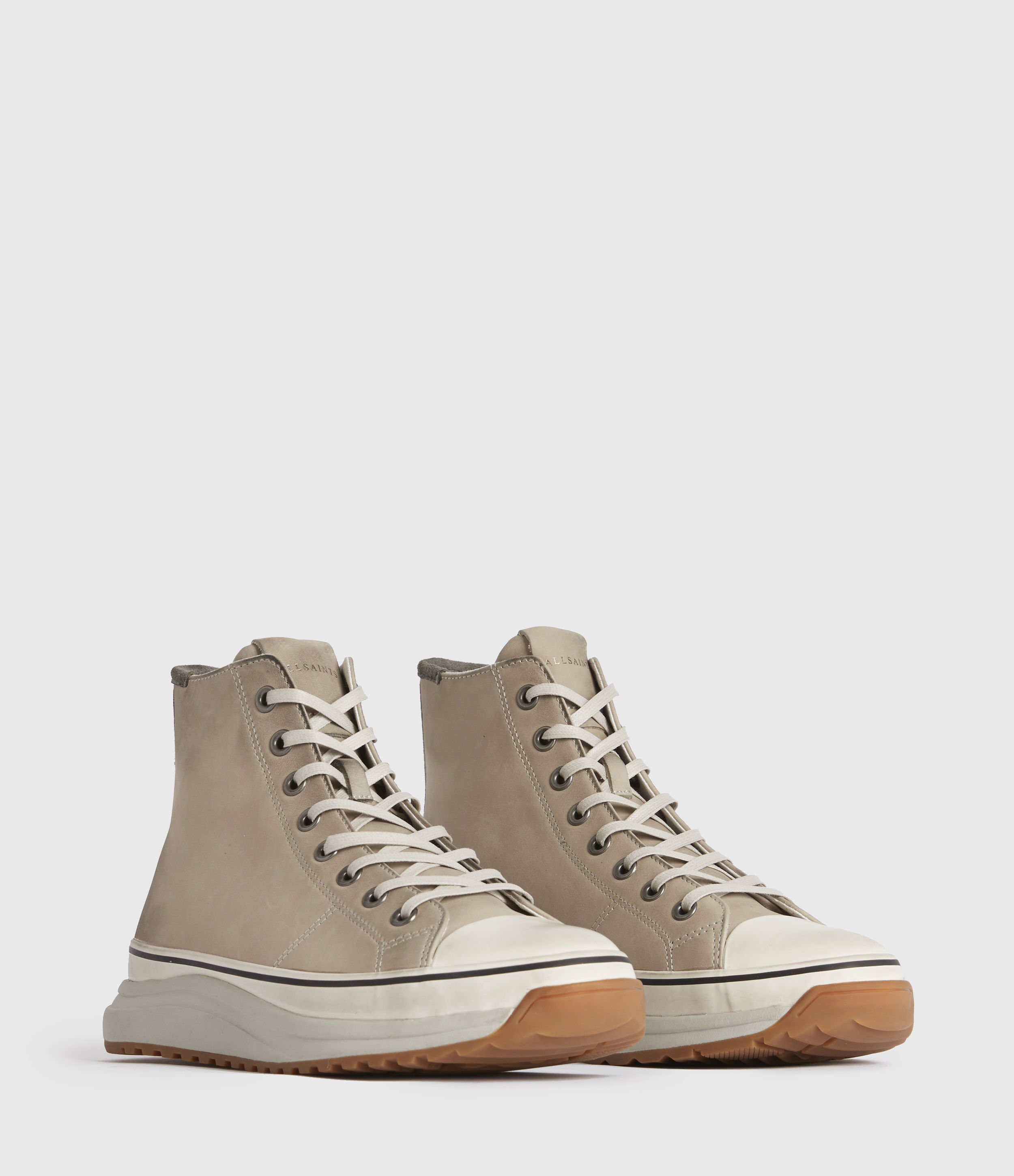AllSaints Blakely High Top Leather Trainers