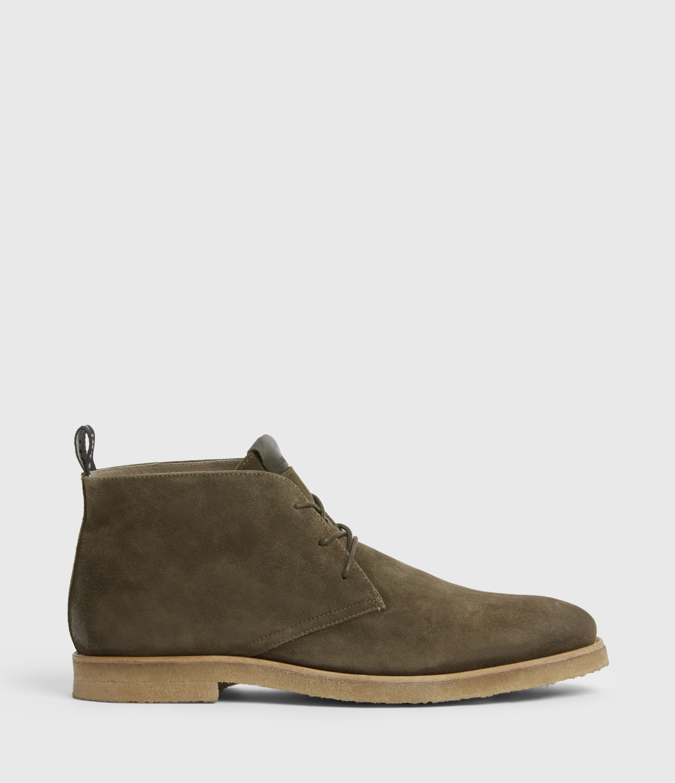 AllSaints Men's Luke Suede Boots, Dark Khaki, Size: UK 10/US 11/EU 44