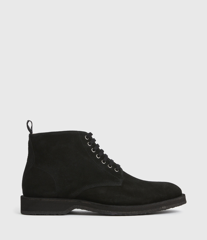 AllSaints Men's Mathias Suede Boots, Black, Size: UK 11/US 12/EU 45
