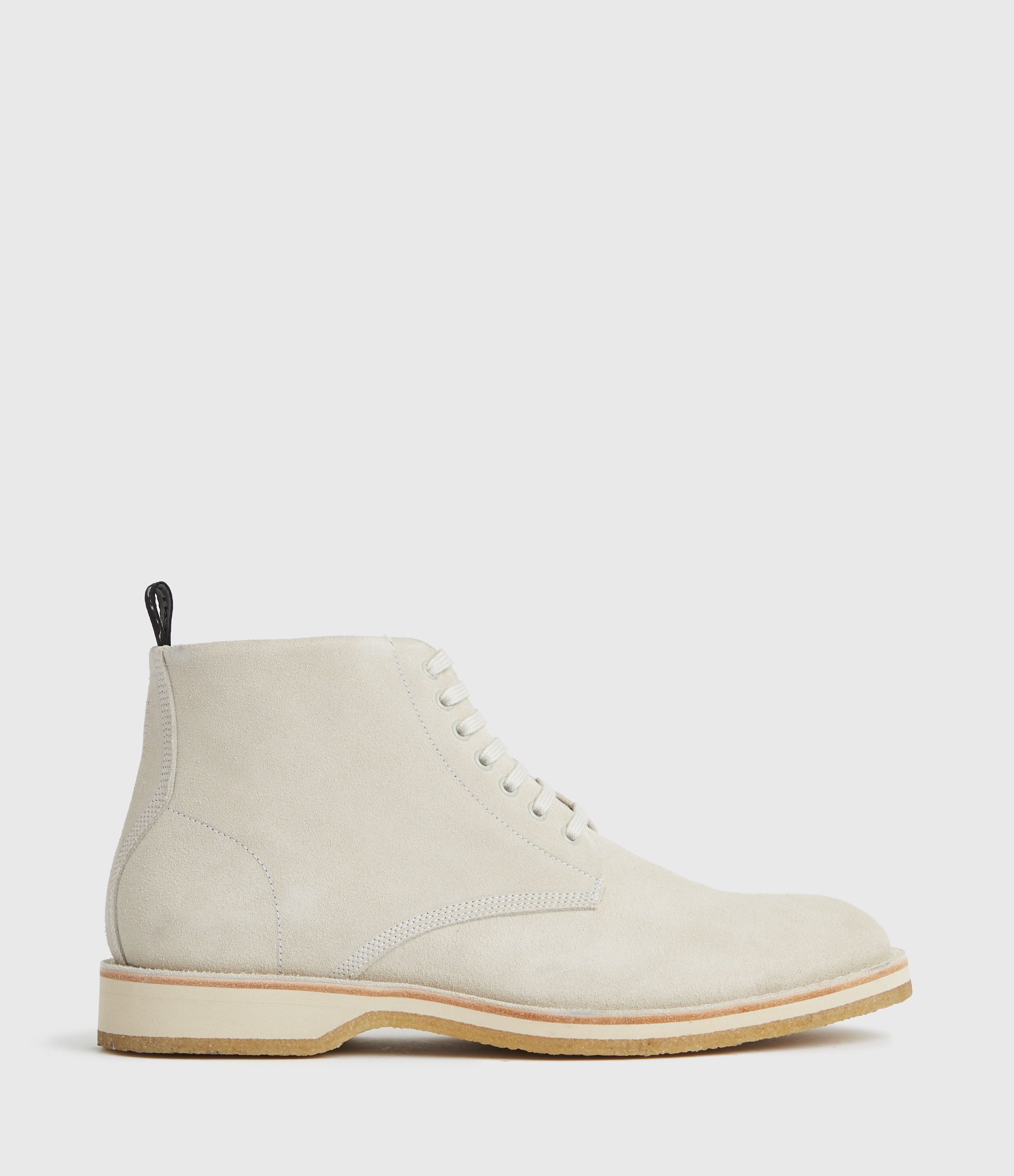 AllSaints Mens Mathias Suede Boots, Off White, Size: UK 9/US 10/EU 43