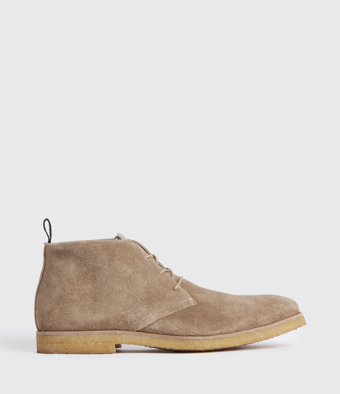 AllSaints Mens Luke Suede Boots, Taupe, Size: UK 11/US 12/EU 45
