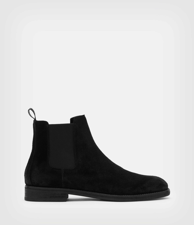 AllSaints Mens Harley Suede Boots, Black, Size: UK 10/US 11/EU 44