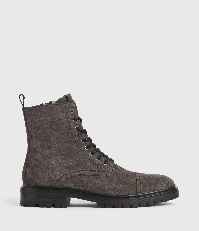 AllSaints Mens Piero Suede Boots, Charcoal Grey, Size: UK 10/US 11/EU 44