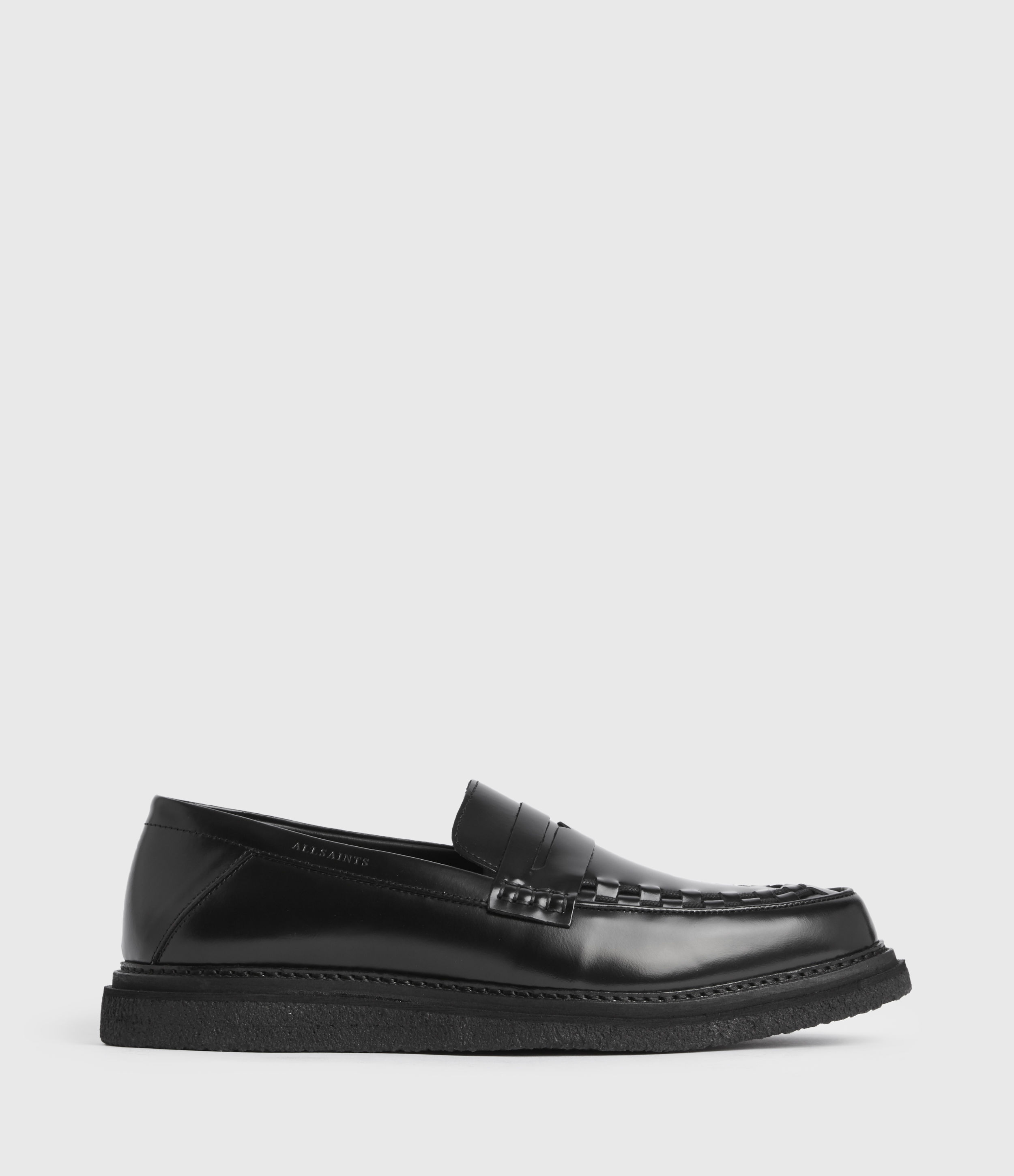 AllSaints Max Leather Loafers