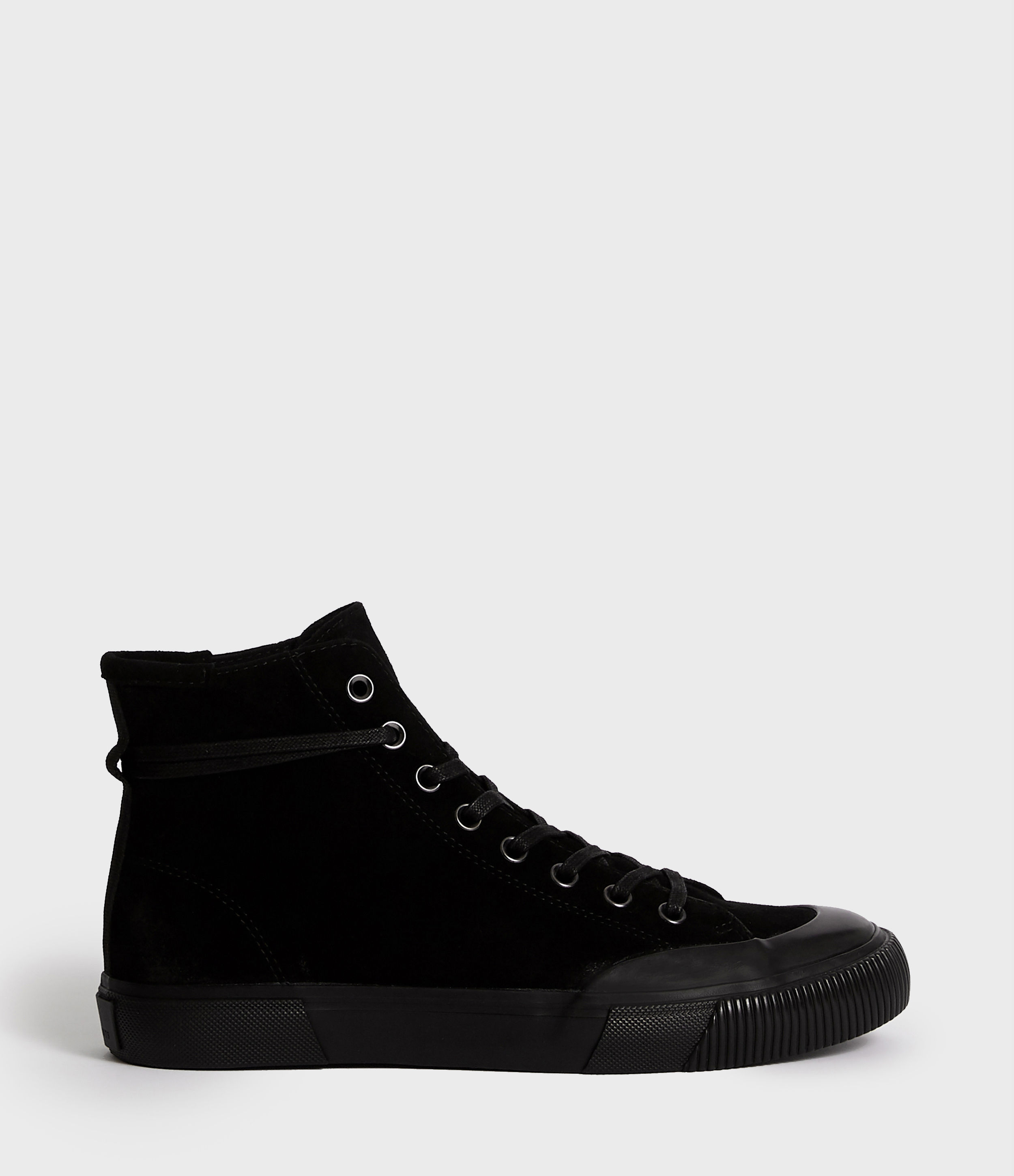 AllSaints Men's Leather Smart Dumont Hightop Trainer, Black, Size: UK 10/US 11/EU 44