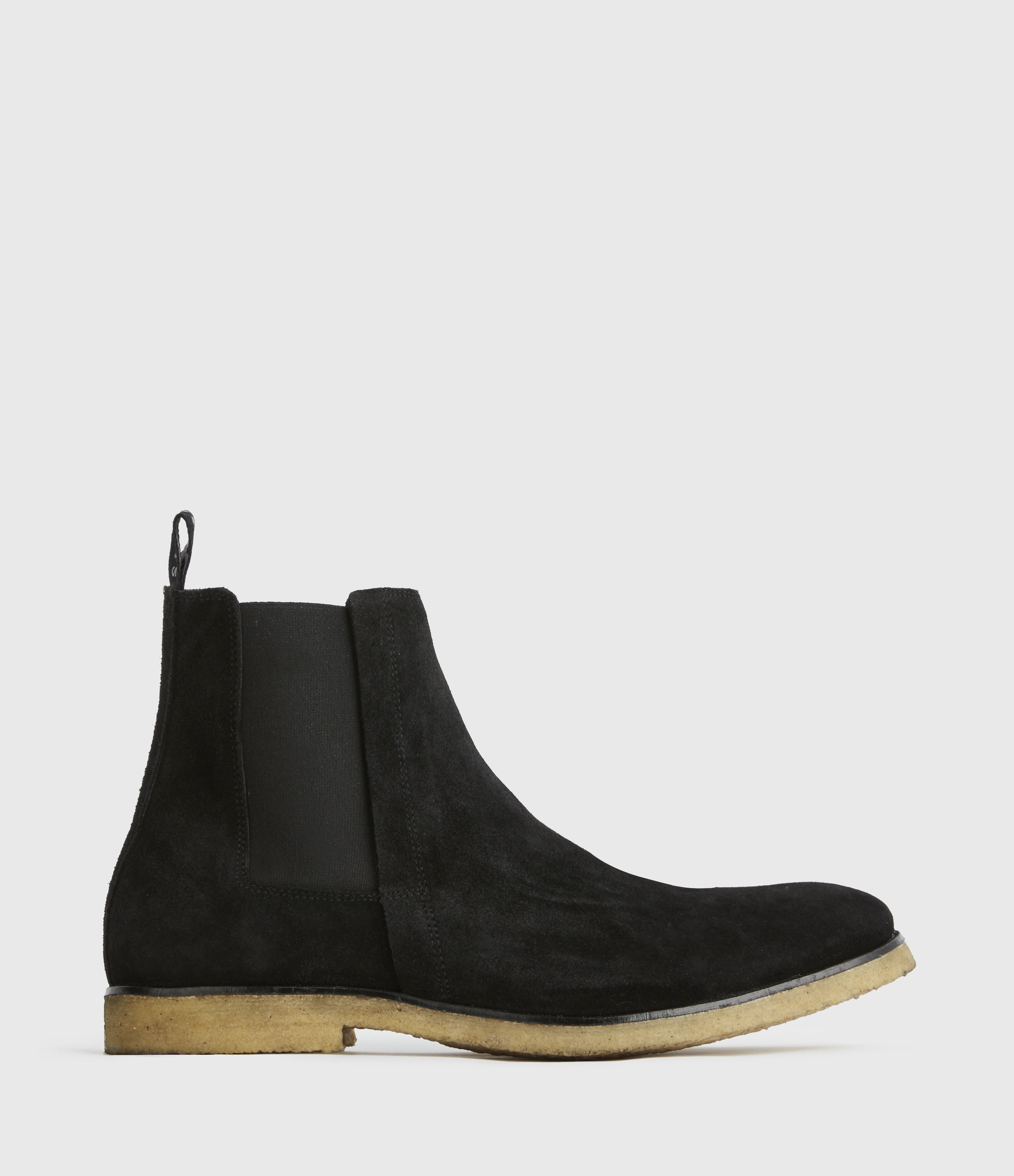 AllSaints Mens Rhett Suede Boots, Black, Size: UK 10/US 11/EU 44