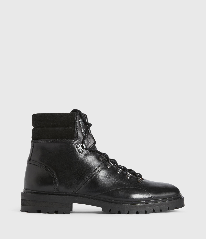 AllSaints Men's Leather Traditional Jaxx Boots, Black, Size: UK 11/US 12/EU 45