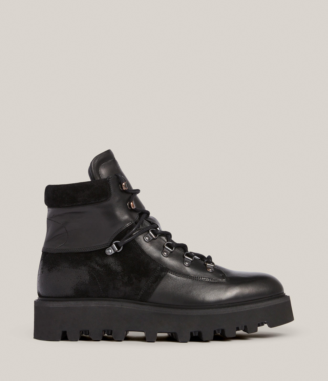 AllSaints Men's Kai Leather Boots, Black, Size: UK 9/US 10/EU 43