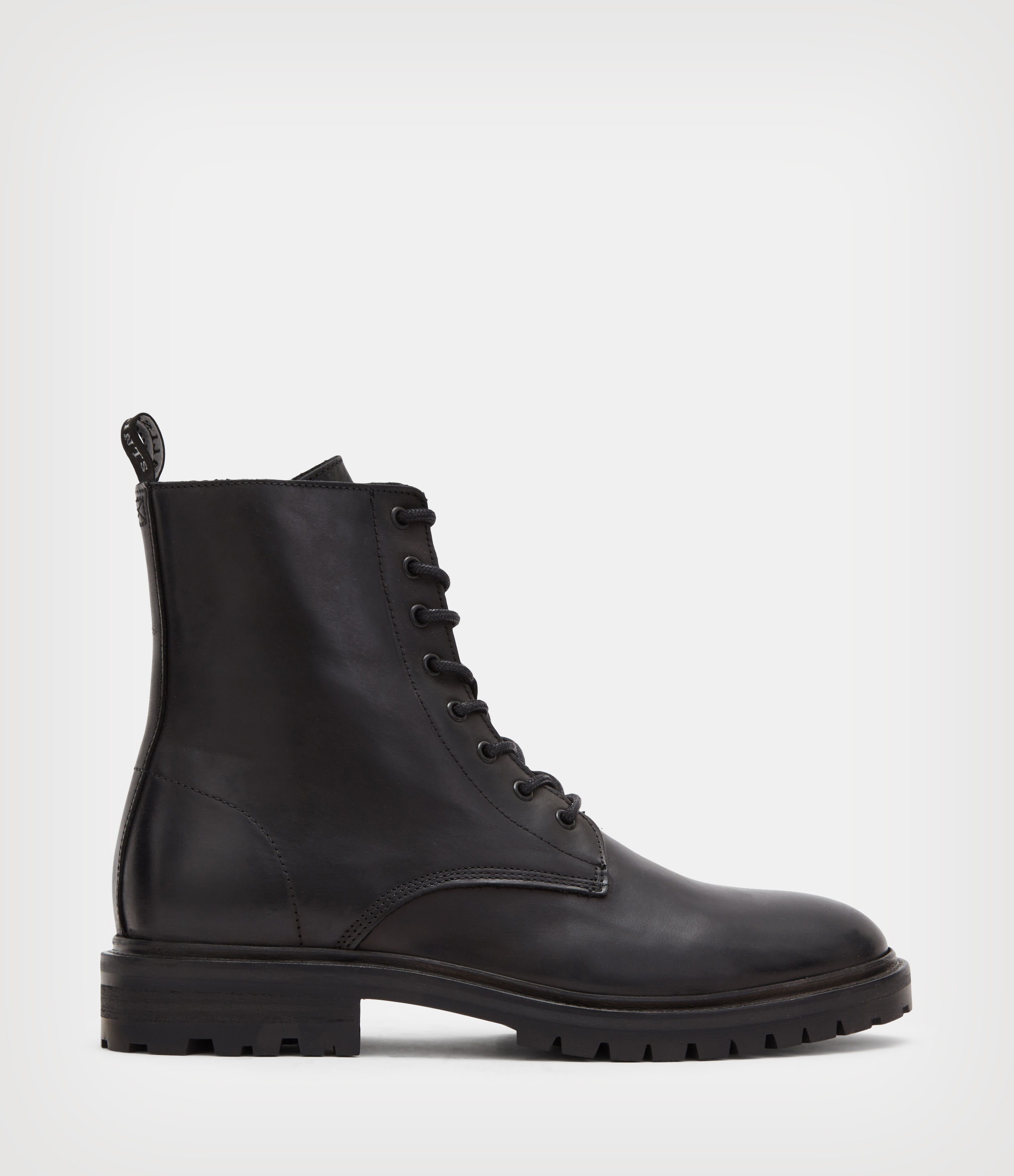 AllSaints Men's Classic Tobias Leather Boots, Black, Size: UK 8/US 9/EU 42
