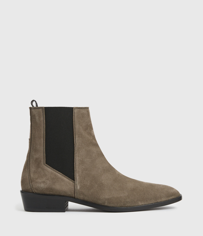 AllSaints Mens Markus Suede Boots, Stone, Size: UK 11/US 12/EU 45