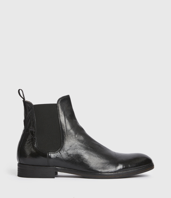 AllSaints Mens Jesiah Leather Boots, Black, Size: UK 7/US 8/EU 41