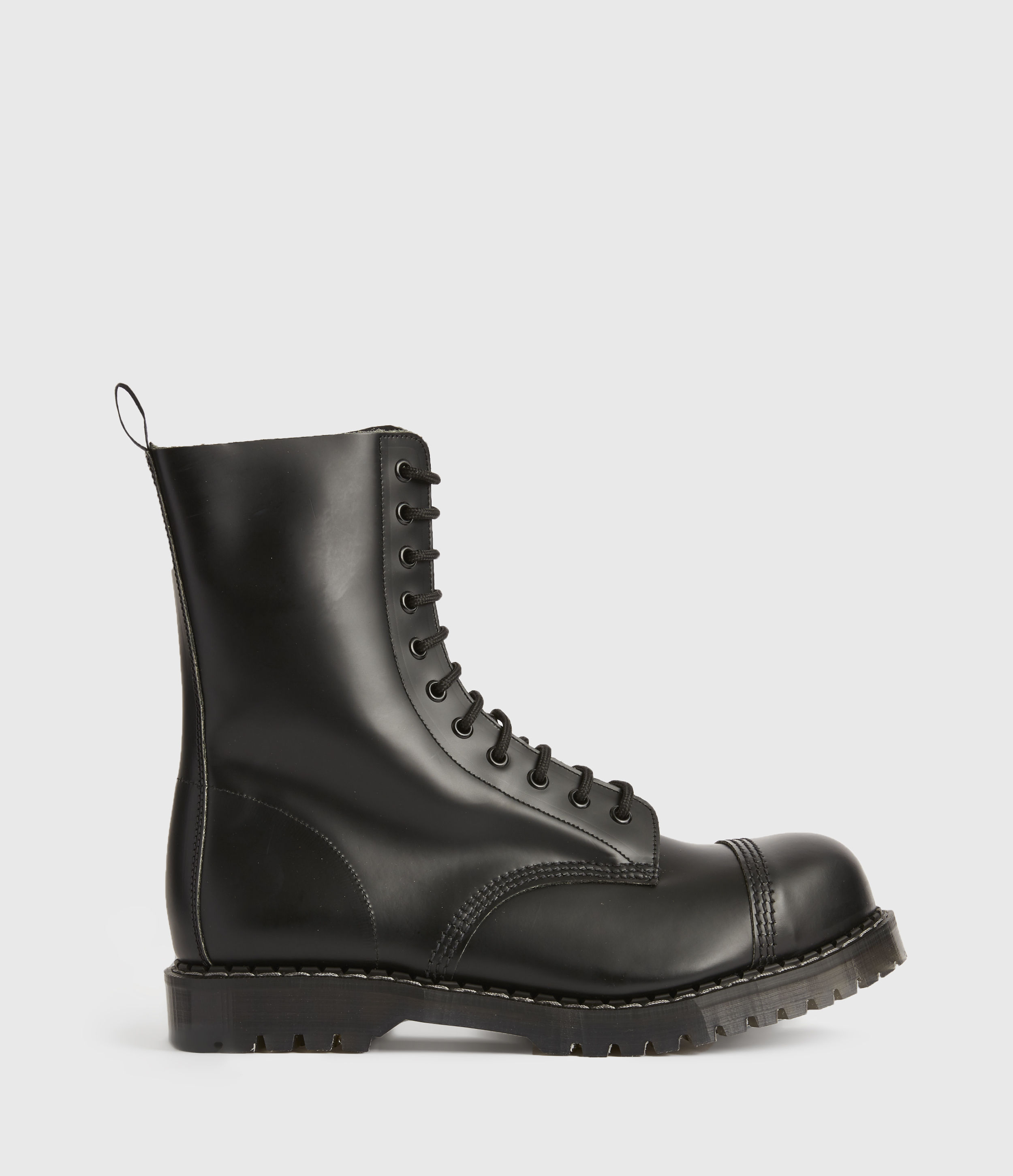 AllSaints Mens River Leather Boots, Black, Size: UK 11/US 12/EU 45