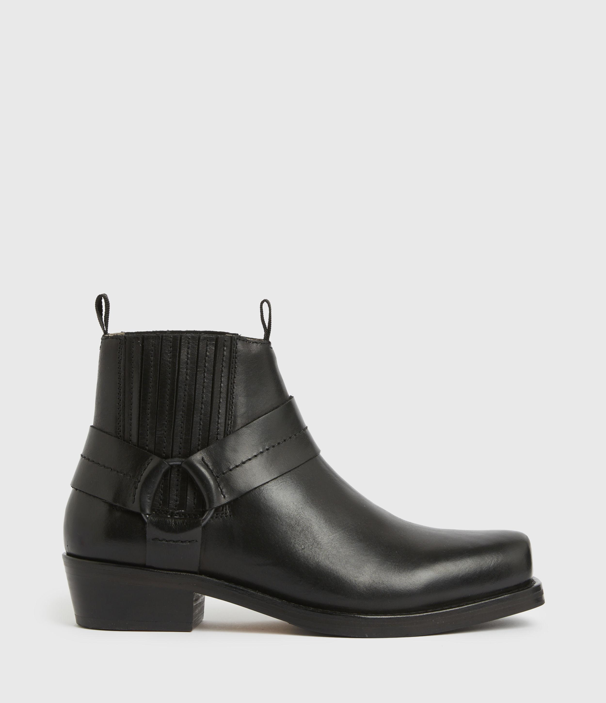 AllSaints Men's Abbot Leather Boots, Black, Size: UK 9/US 10/EU 43