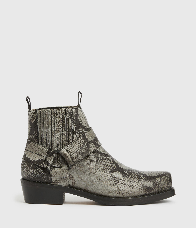 AllSaints Men's Abbot Leather Boots, Black, Size: UK 8/US 9/EU 42