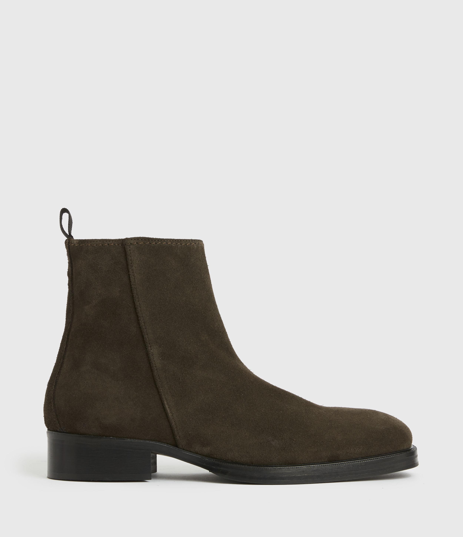 AllSaints Mens Seth Suede Boots, Bitter Chocolate, Size: UK 8/US 9/EU 42