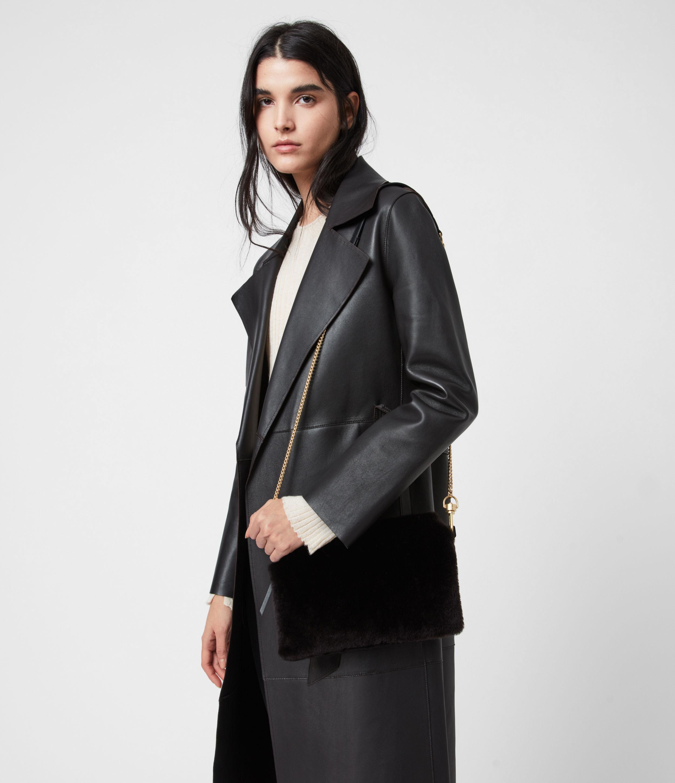 AllSaints Eve Shearling Crossbody Bag