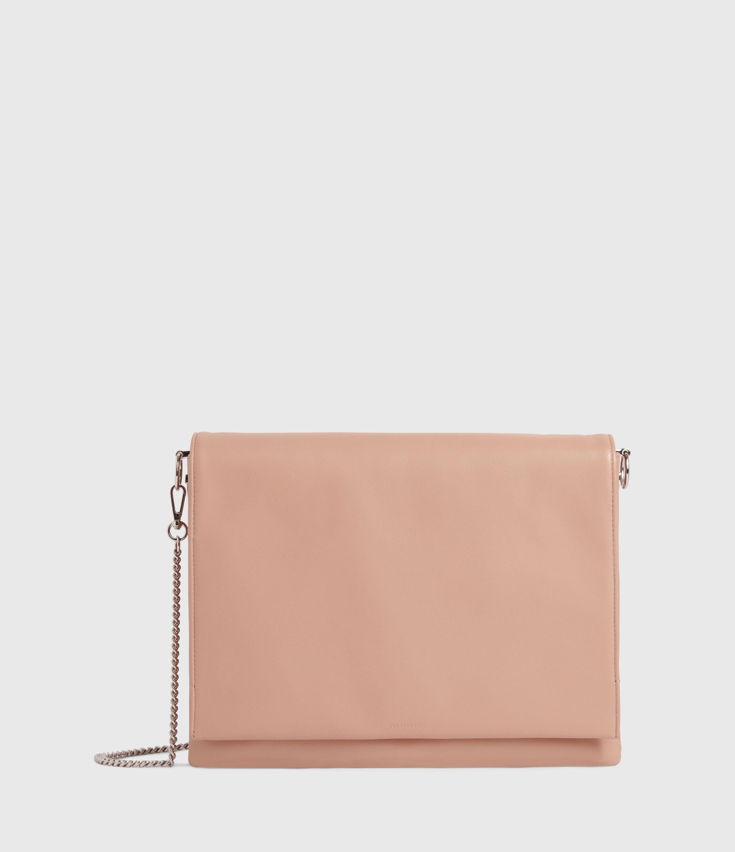 AllSaints Women's Lamb Leather Culford Shoulder Bag, Pink