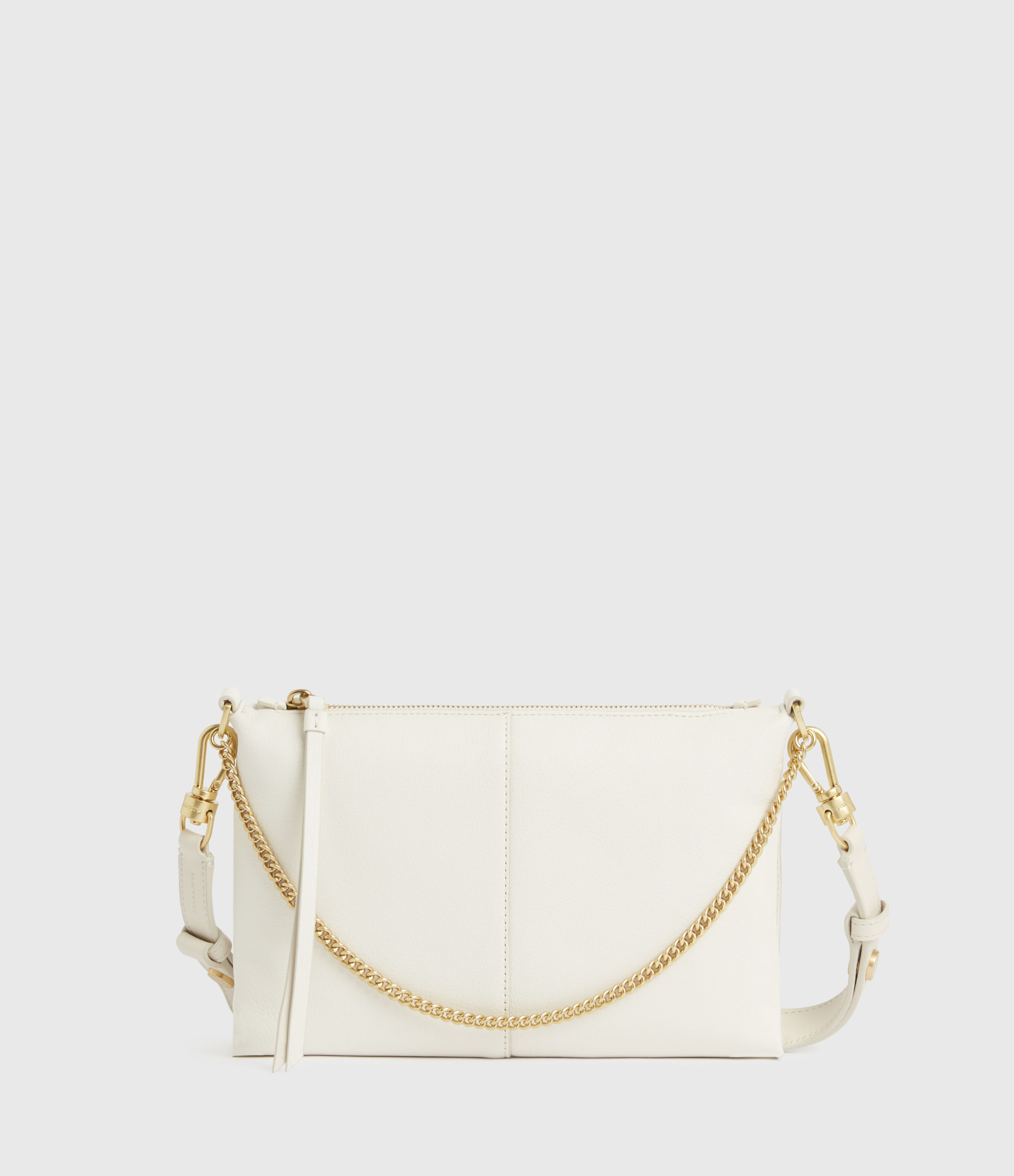 AllSaints Womens Eve Leather Crossbody Bag, ROE White