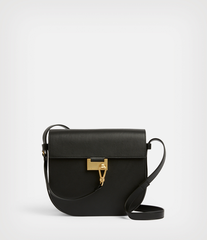 AllSaints Women's Leather Nicolette Shoulder Bag, Black