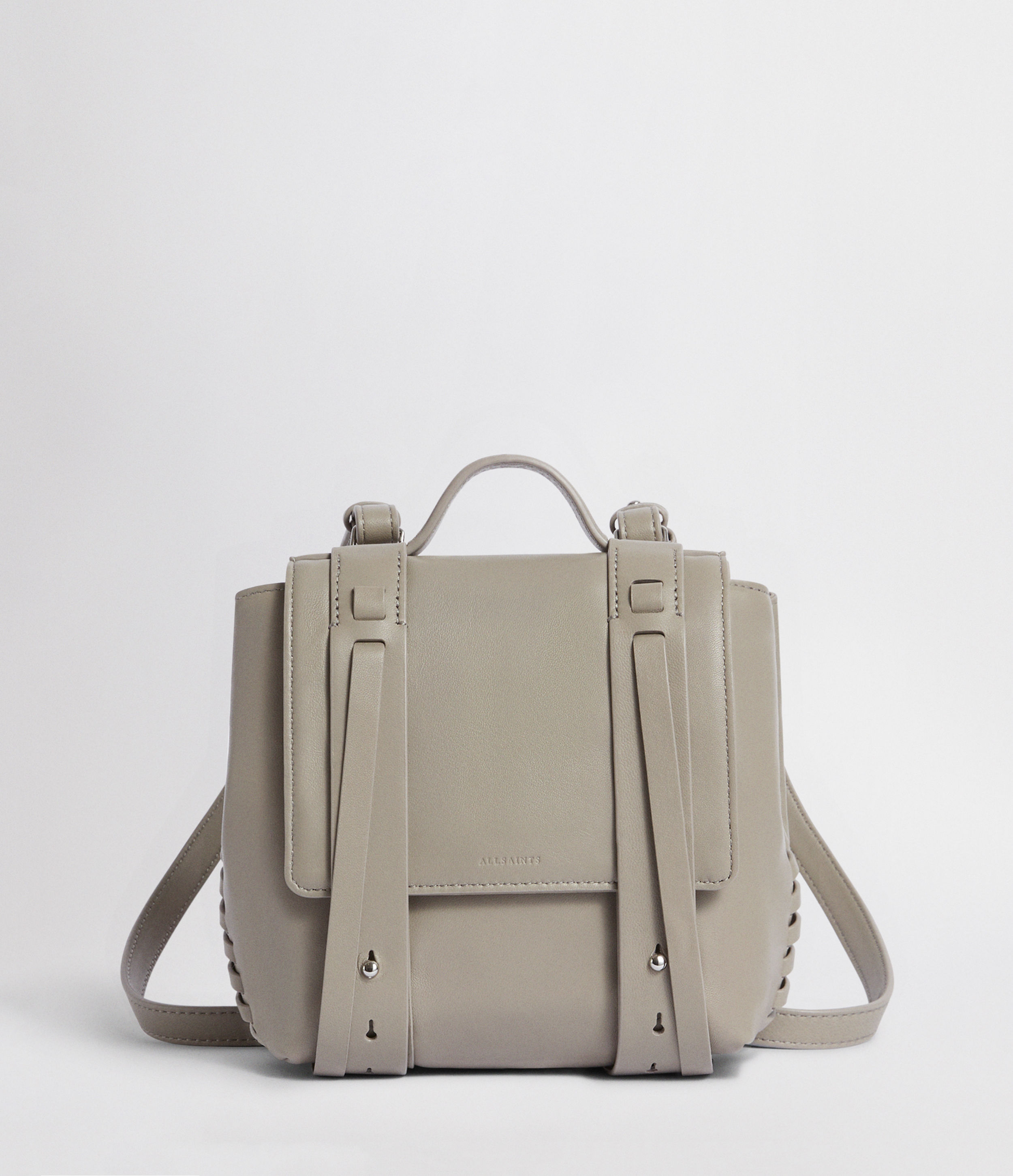 AllSaints Fin Leather Mini Backpack