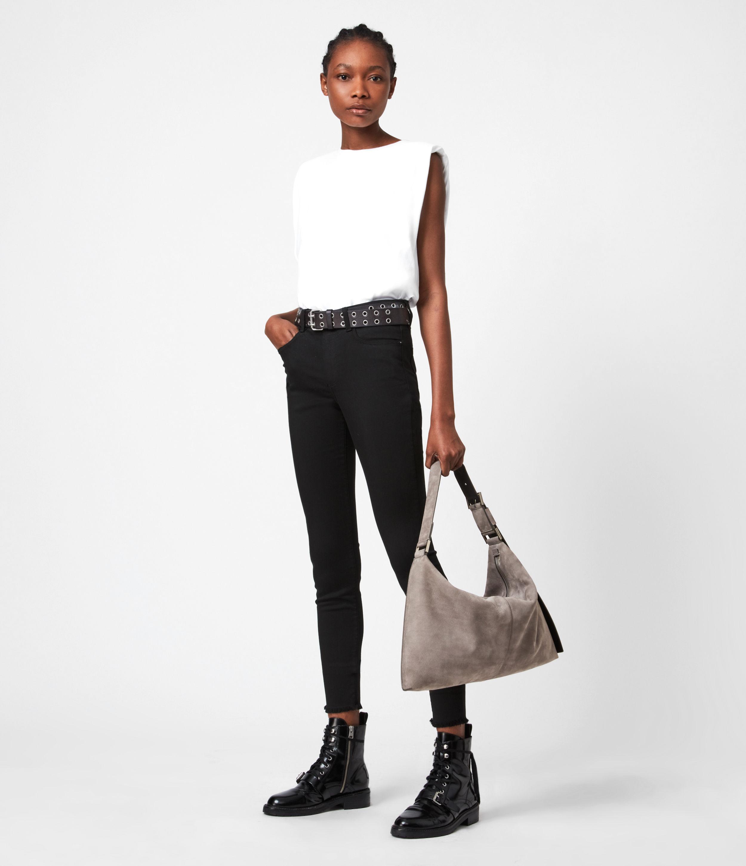 AllSaints Edbury Nubuck Shoulder Bag