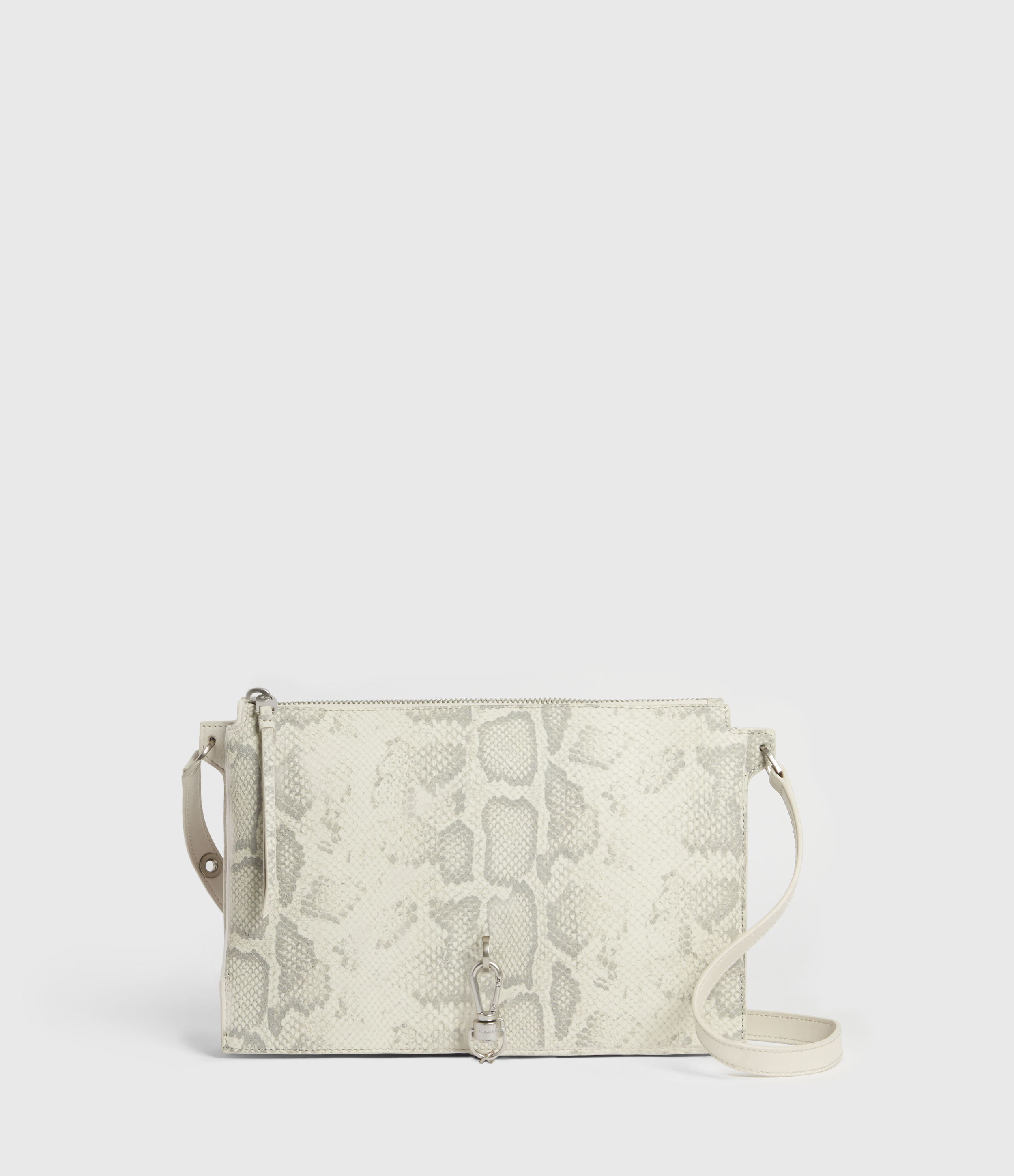 AllSaints Sheringham Leather Snake Shoulder Bag