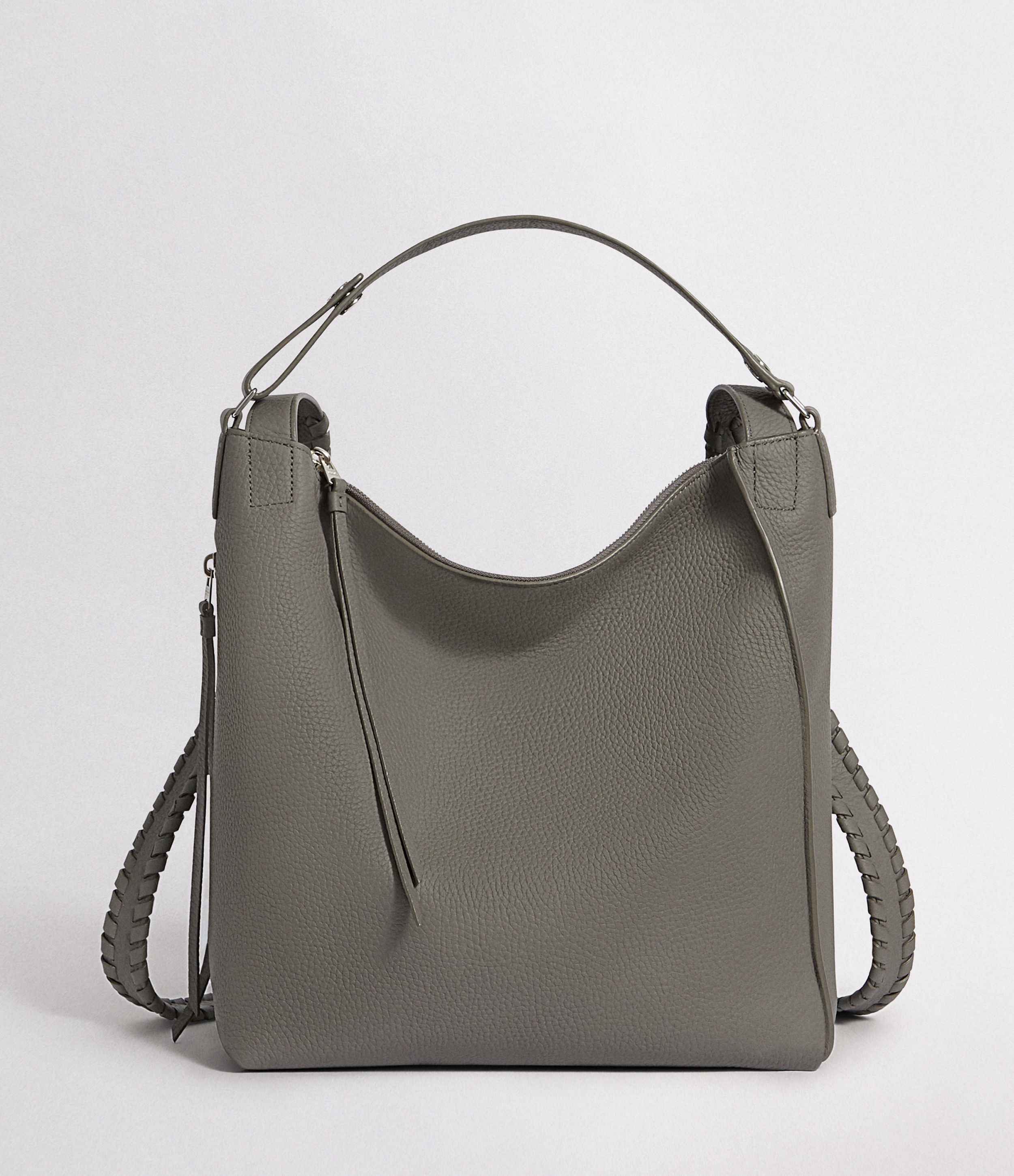 AllSaints Women's Leather Kita Small Backpack, Grey