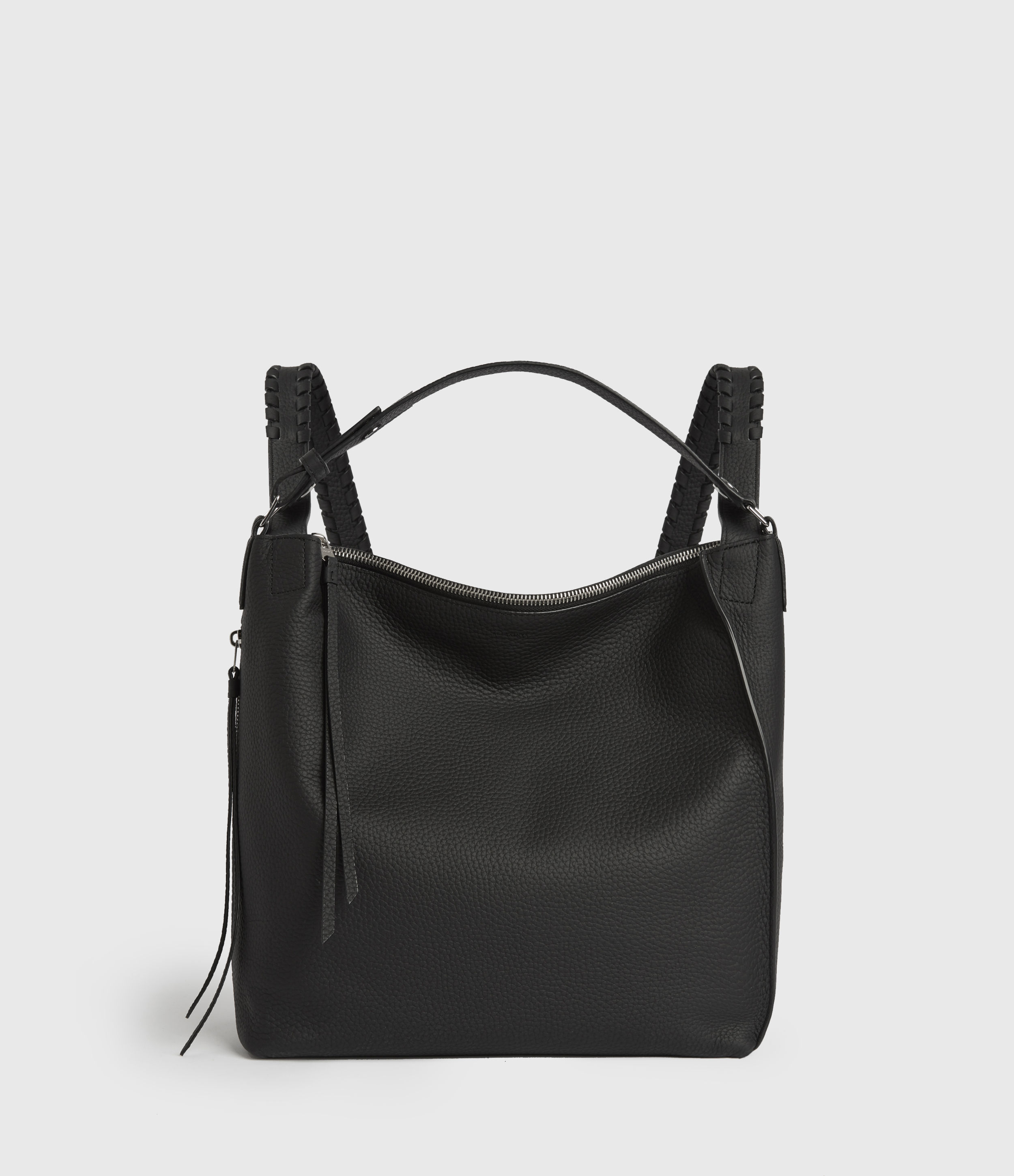 AllSaints Women's Leather Kita Small Backpack, Black