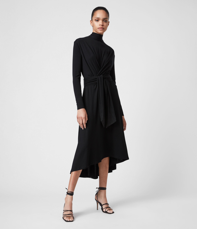 AllSaints Women's Erna Dress, Black, Size: 2