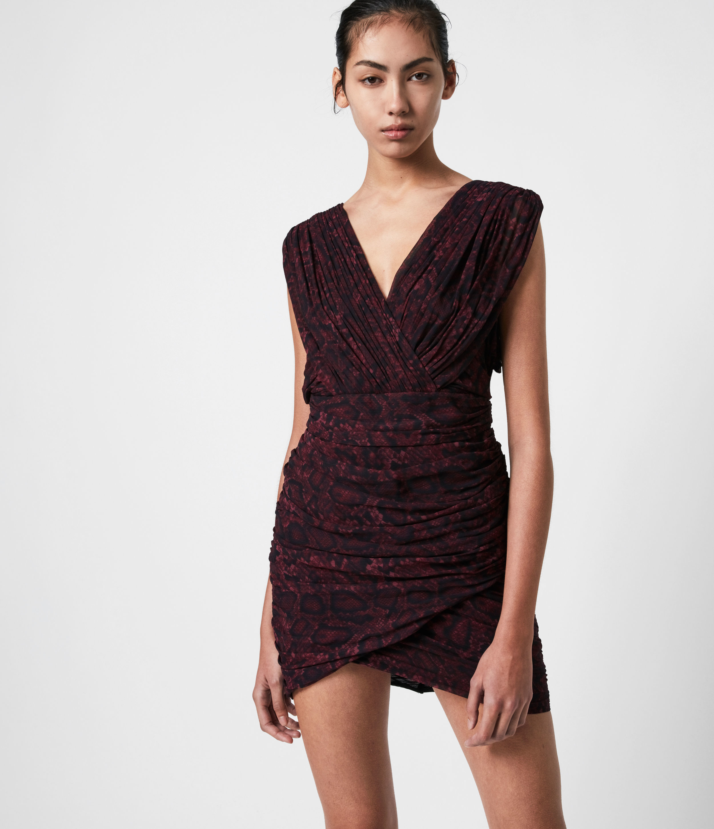 AllSaints Serena Stanza Dress