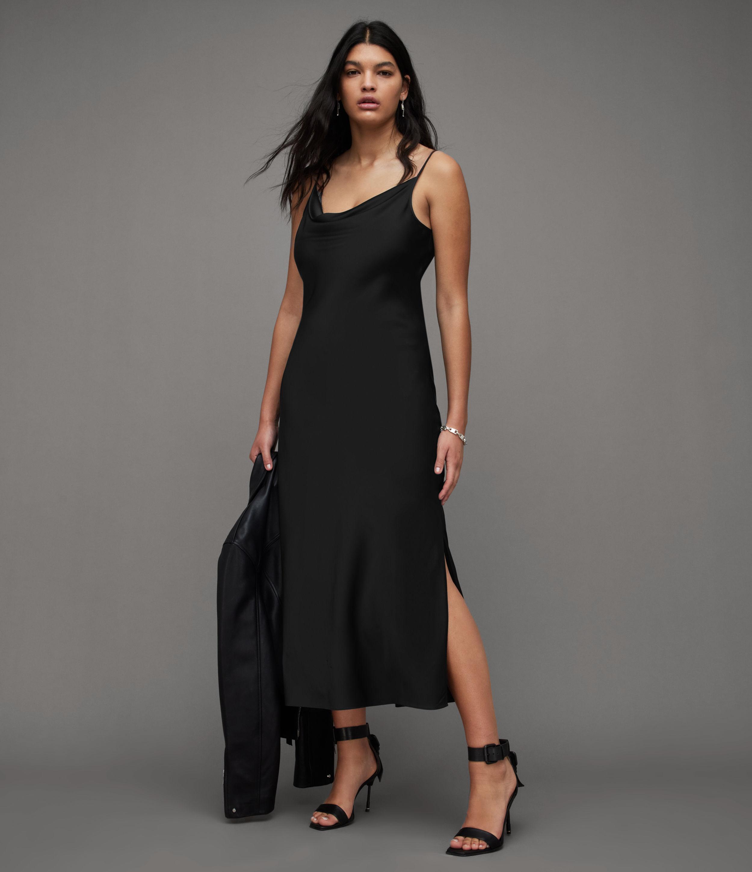 AllSaints Women's Hadley Dress, Black, Size: 14