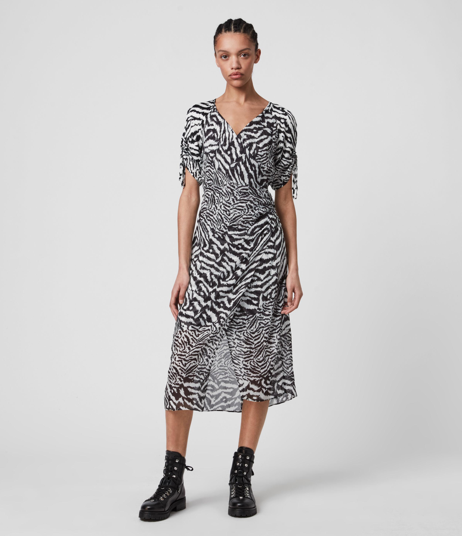 AllSaints Women's Carla Remix Dress, White, Size: 4