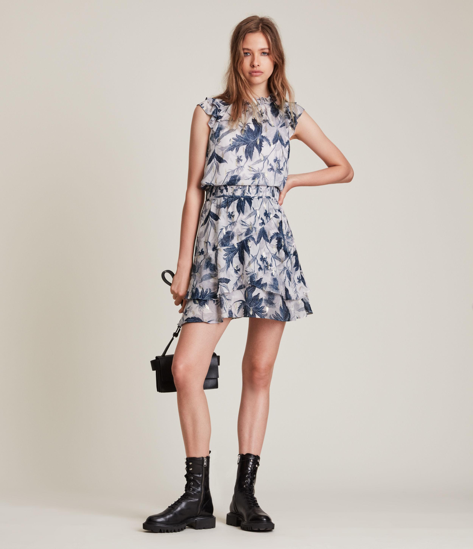 AllSaints Women's Caylan Harris Dress, Blueprint, Size: 12