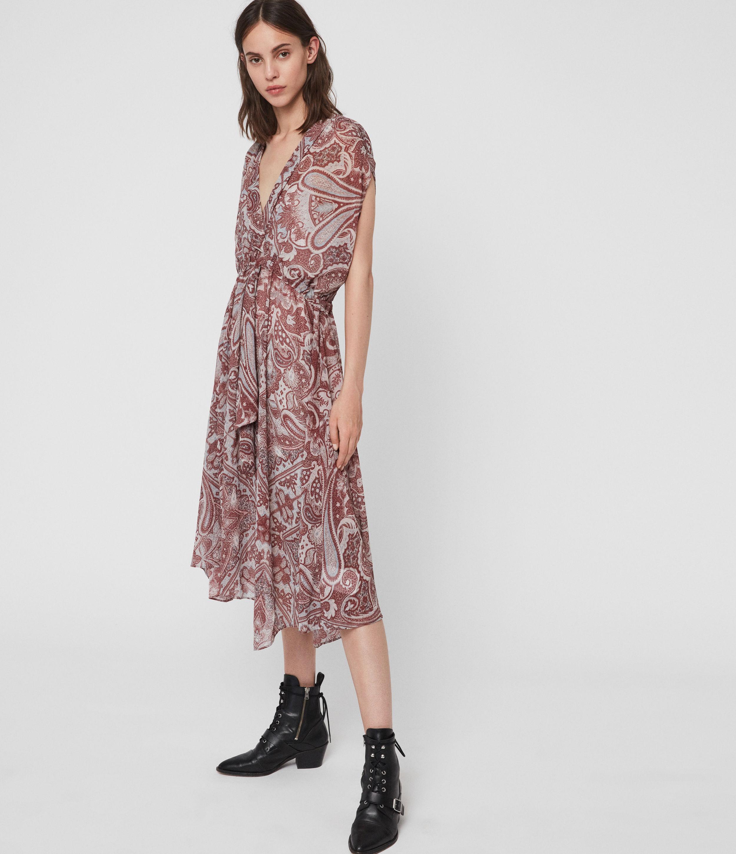 AllSaints Romina Scarf Dress