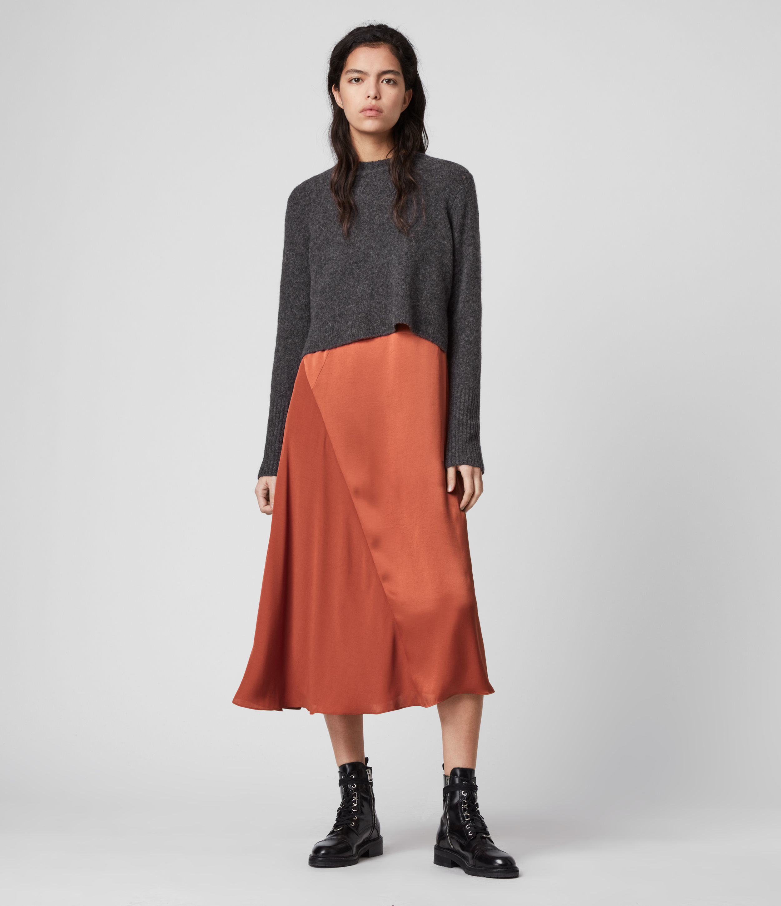 AllSaints Ageta 2-in-1 Dress