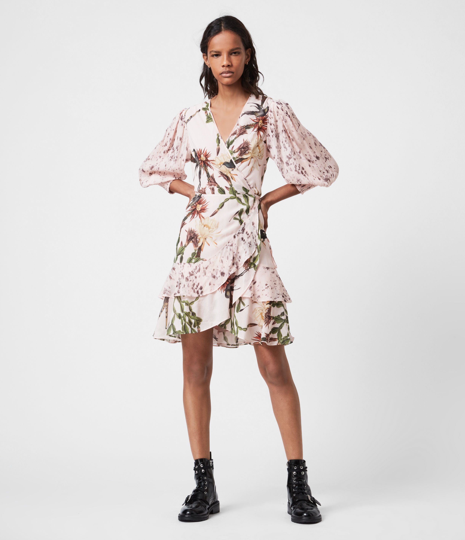 AllSaints Women's Ari Nolina Dress, Clay Pink, Size: 2