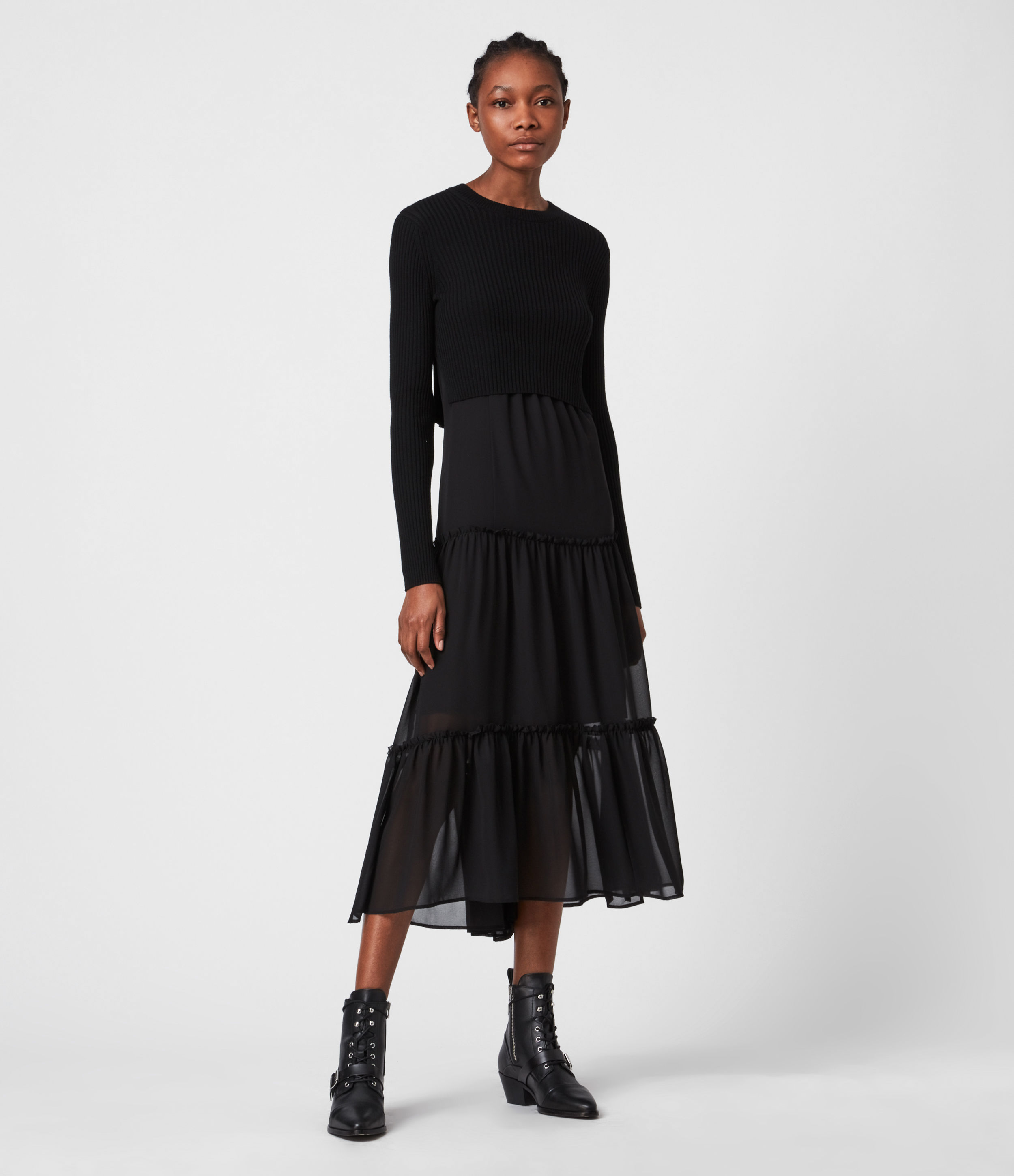 AllSaints Tilly 2-In-1 Dress