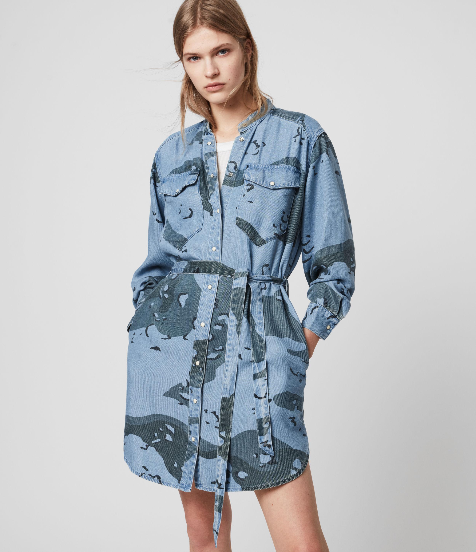AllSaints Kat Camo Denim Dress