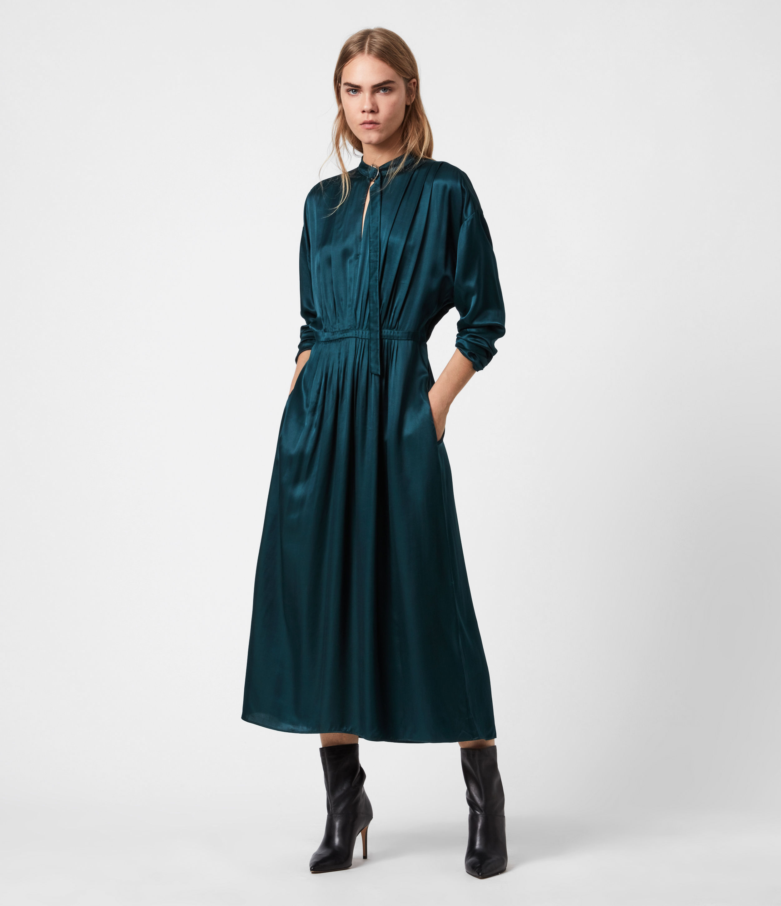 AllSaints Gracie Silk Blend Dress