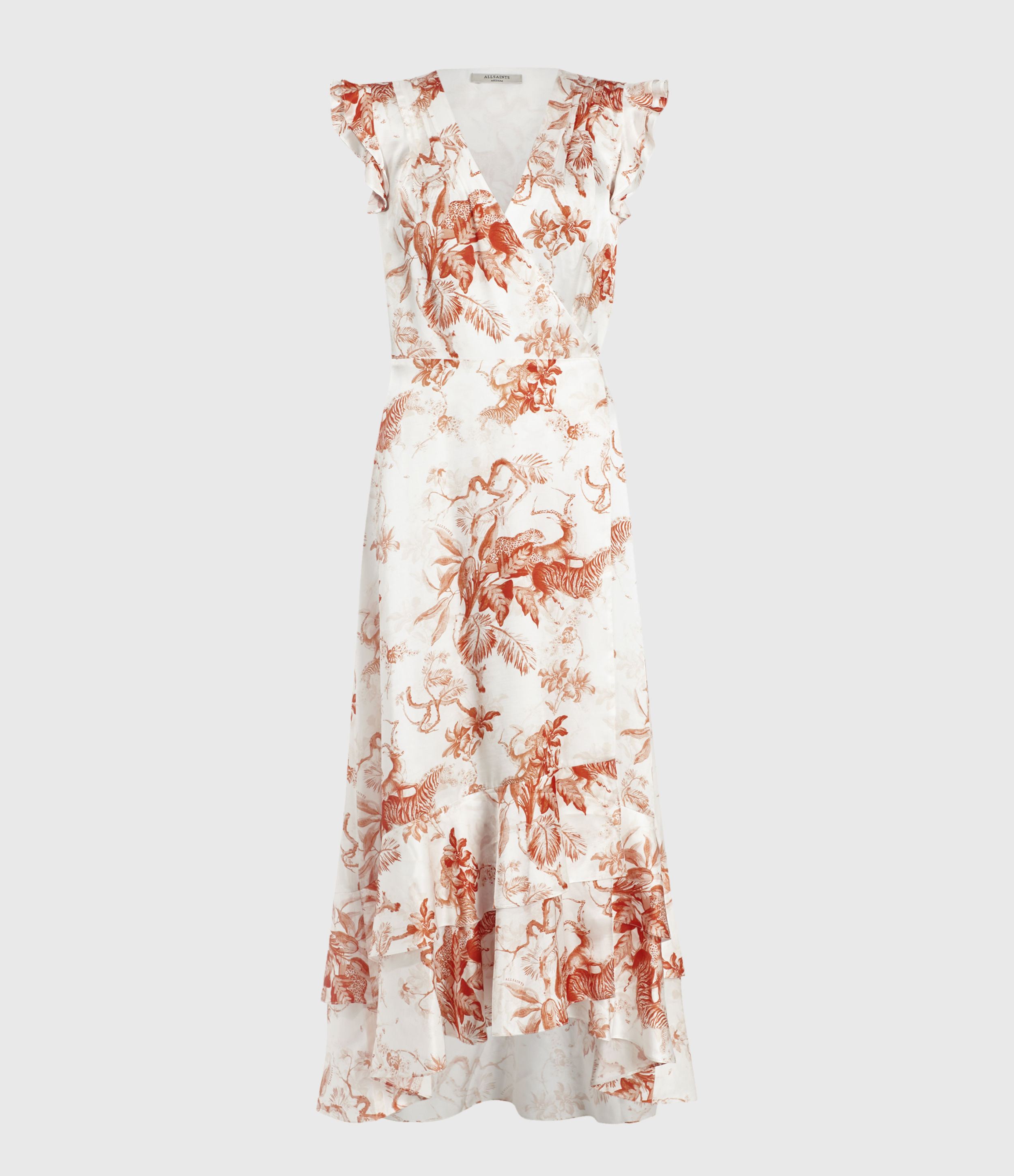AllSaints Dela Riyaz Silk Blend Dress