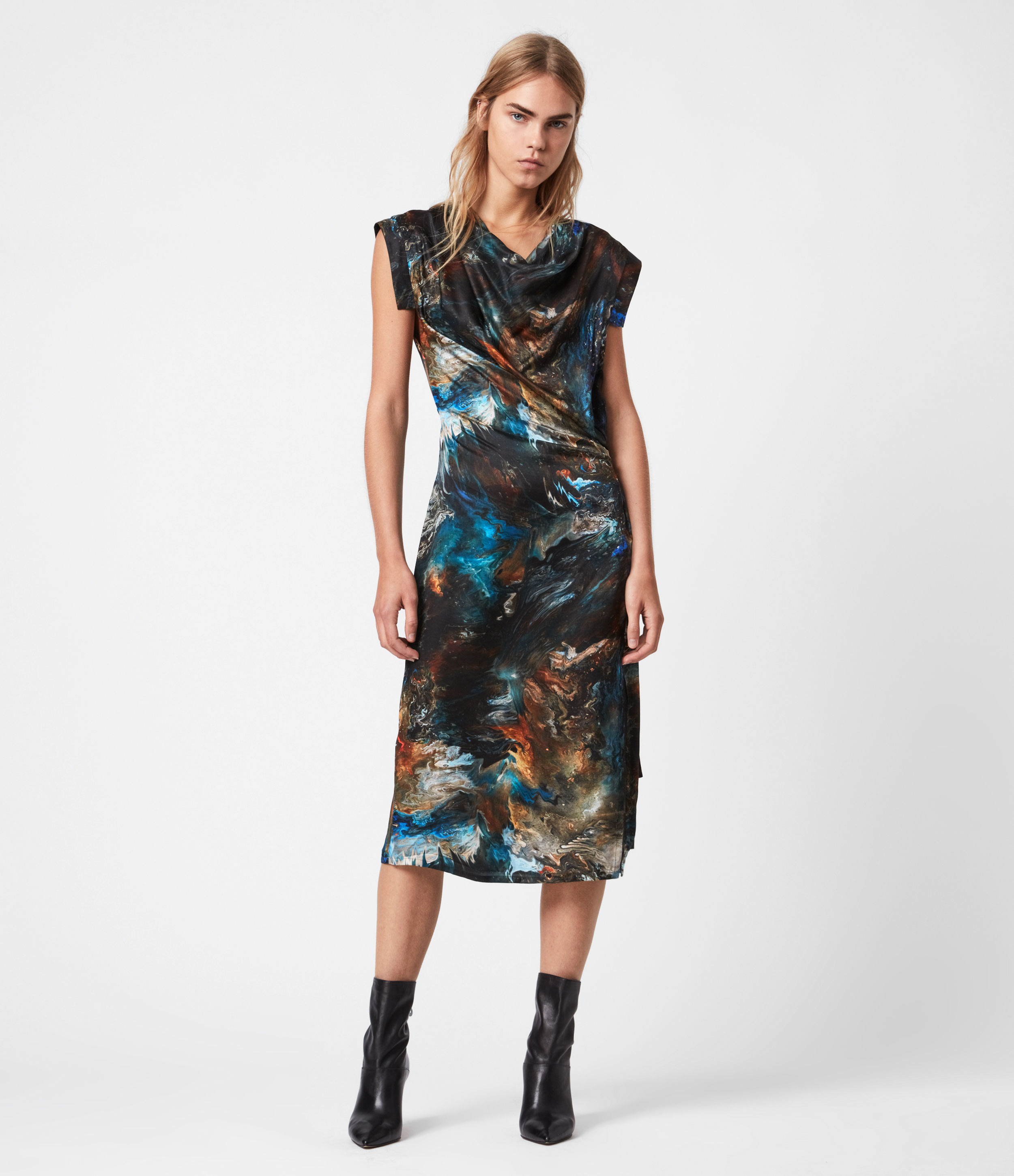 AllSaints Lina Silk Blend Concerto Dress