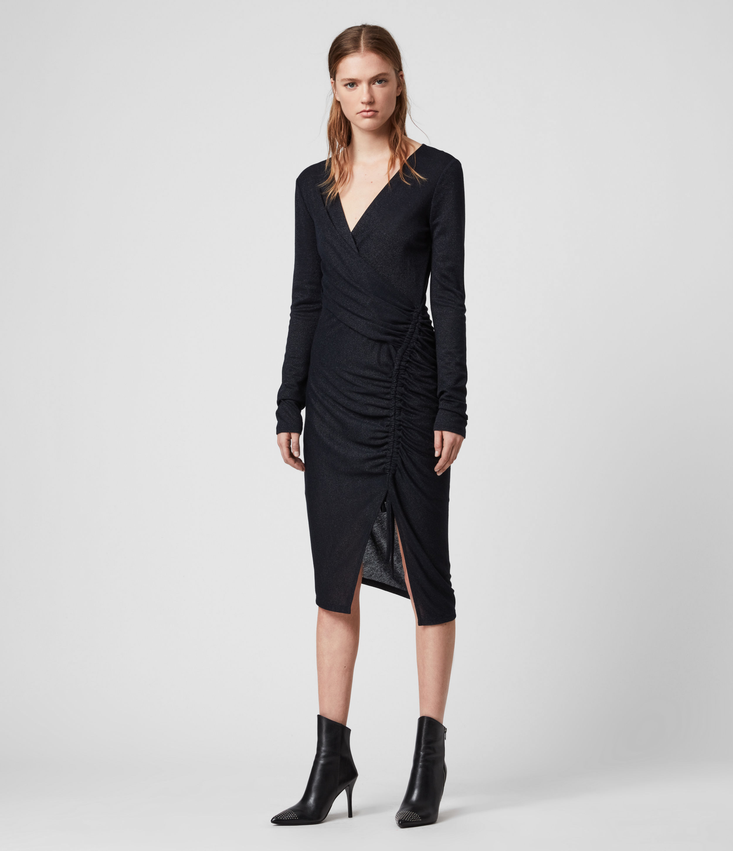 AllSaints Rina Glitz Wrap Dress