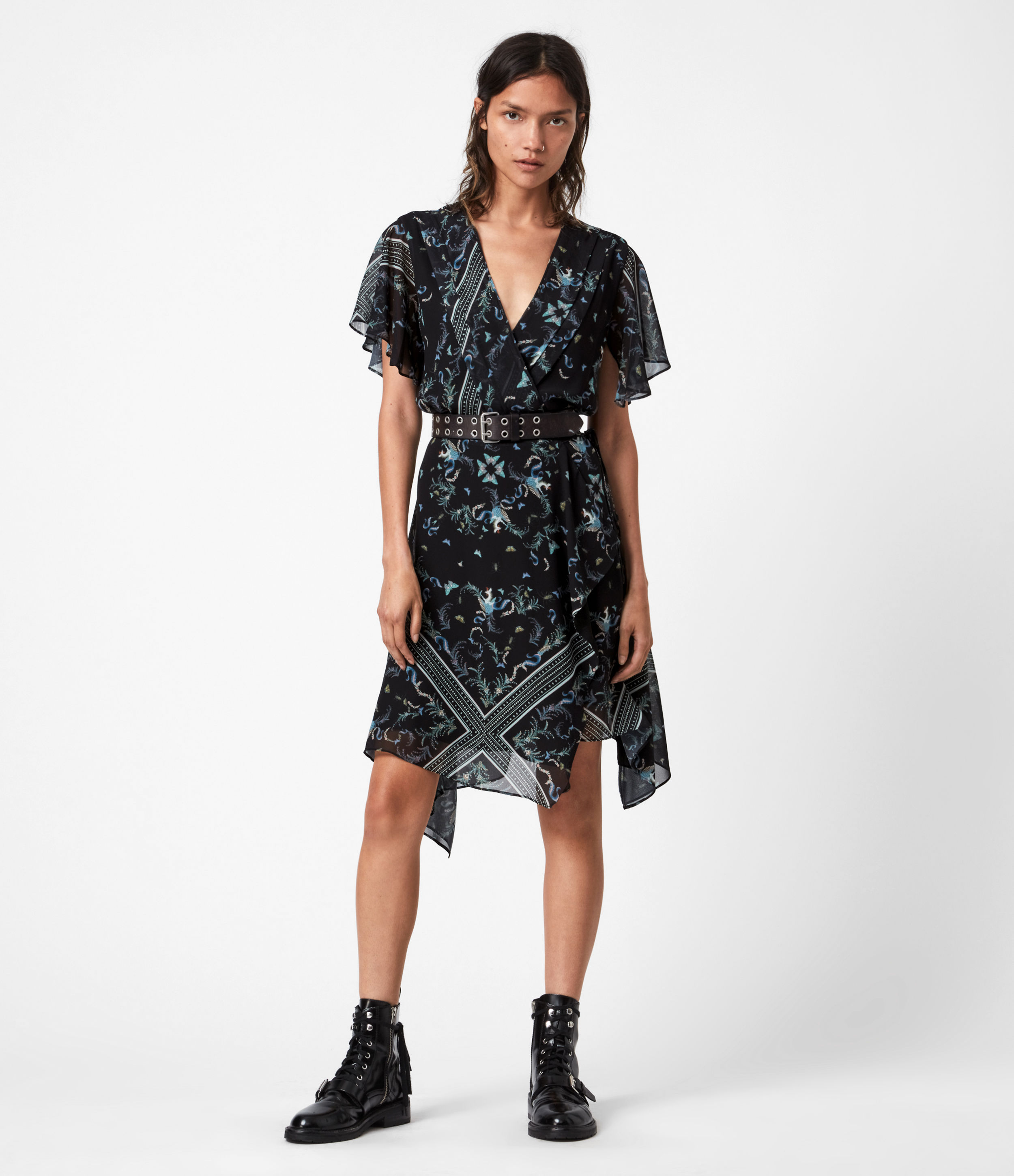 AllSaints Kaiya Assam Dress