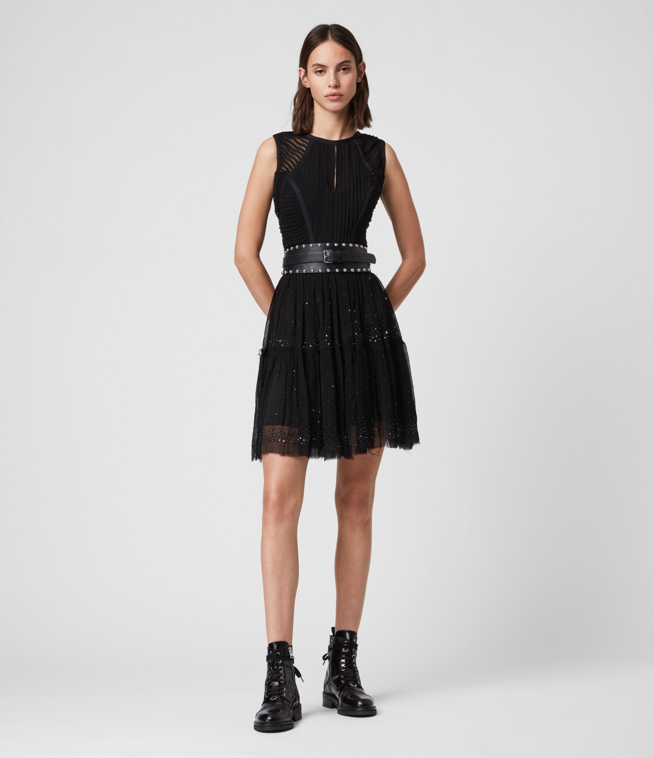 AllSaints Rochi Embellished Dress
