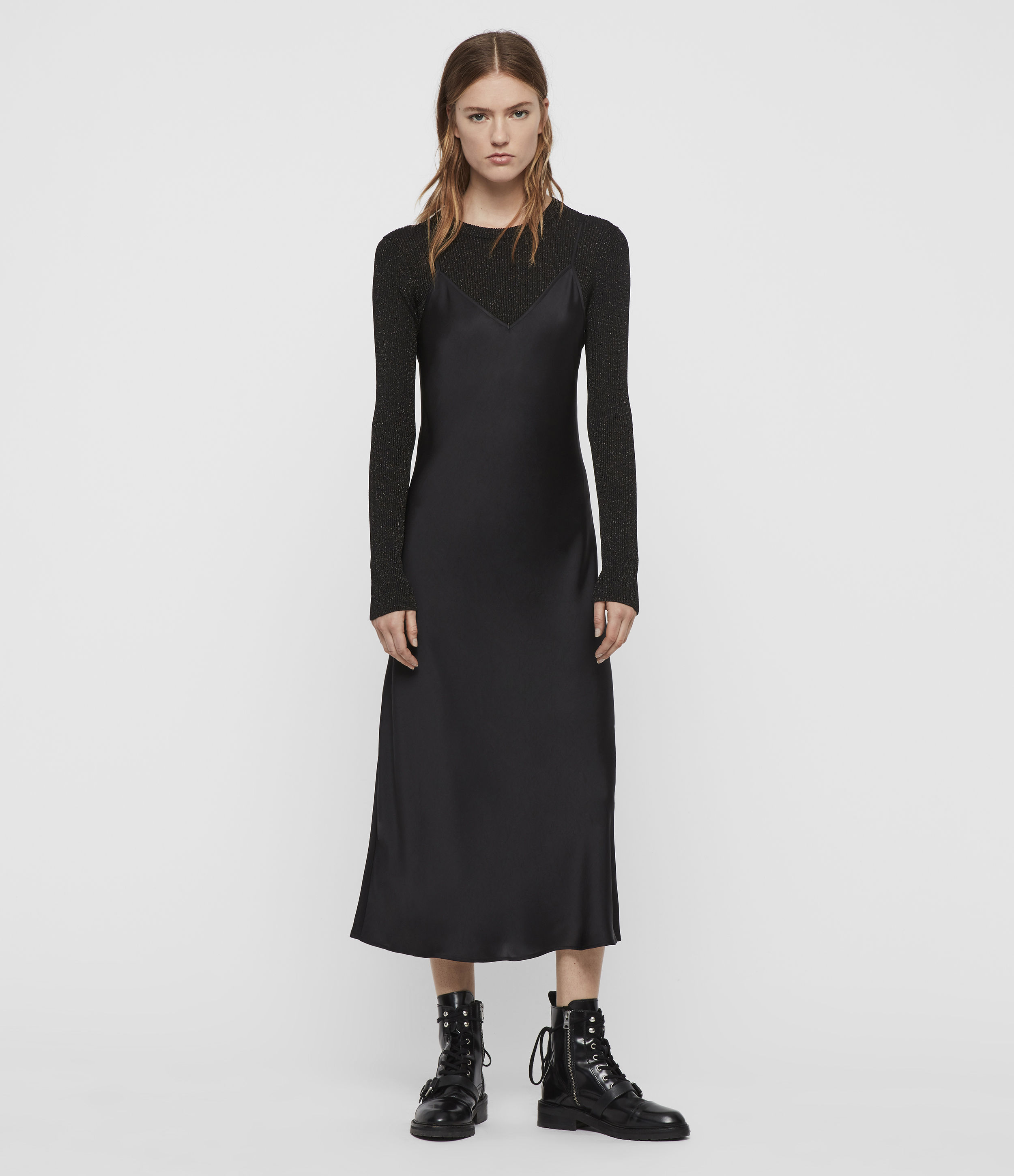 AllSaints Kowlo Shine 2-in-1 Dress
