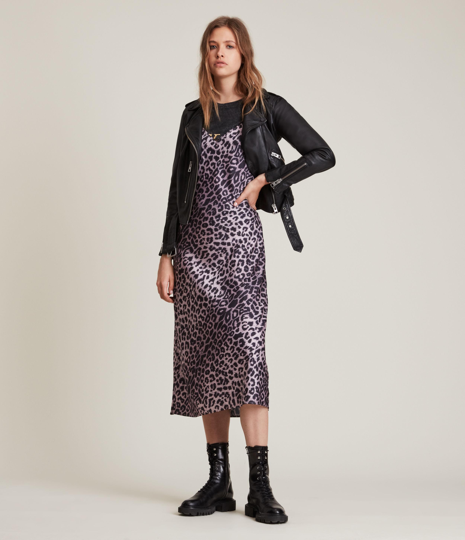 AllSaints Women's Tierny Leppo Slip Dress, Soft Pink, Size: 12