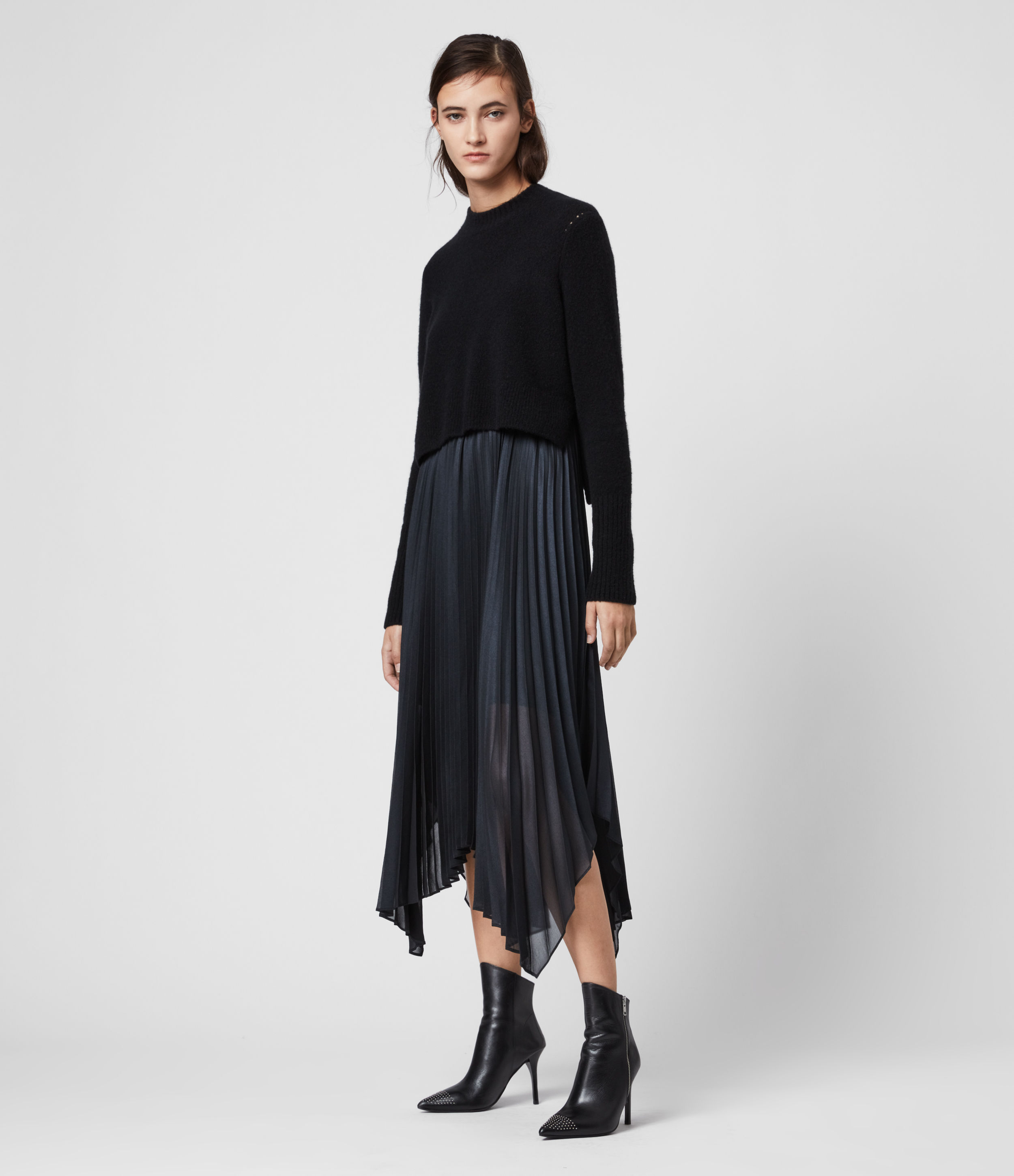 AllSaints Lerin Knit 2-in-1 Dress